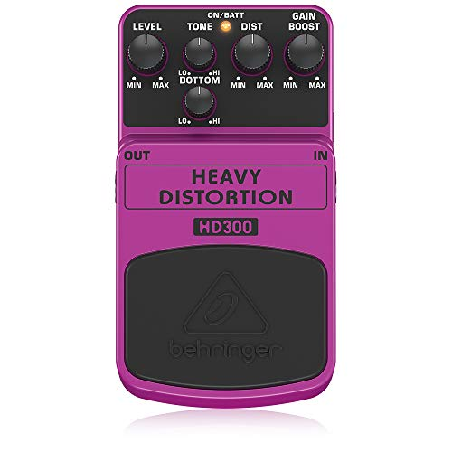 Behringer HD300, Pedal de distorsión para guitarra, HEAVY DISTORTION HD300,...