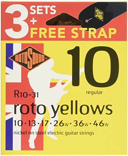 Rotosound R10VP Value Pack R10 (3 Sets R10 + FREE Strap)